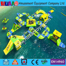 Used inflatable sea trampoline,inflatable floating water park for commercial sale