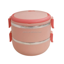 Double Layers Stainless Steel Lunch Box/Heated Lunch Box