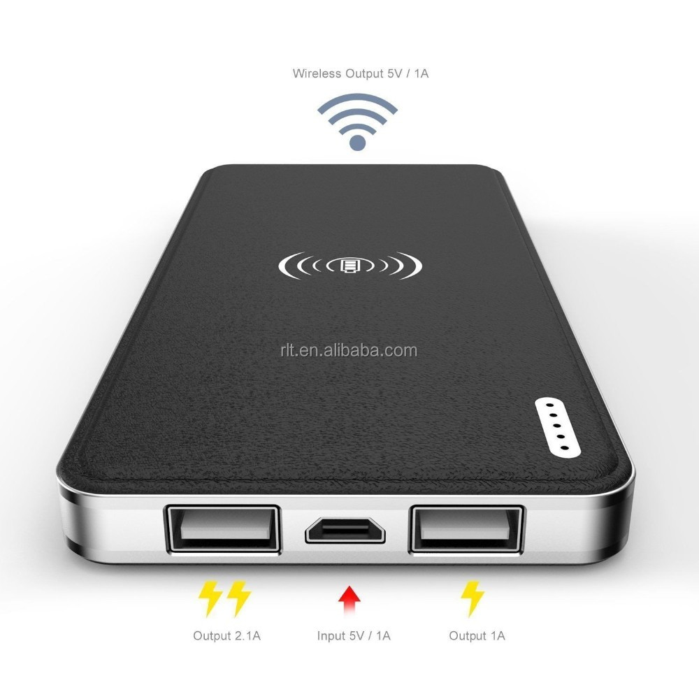 High Quality Qi Wireless Charger Power Bank 10000mAh Rechargeable Battery USB Charging Pad Powerbank for Mobile Phones
