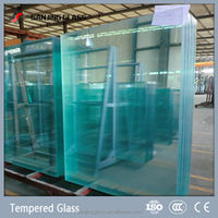Tempered decorative glass wall panels
