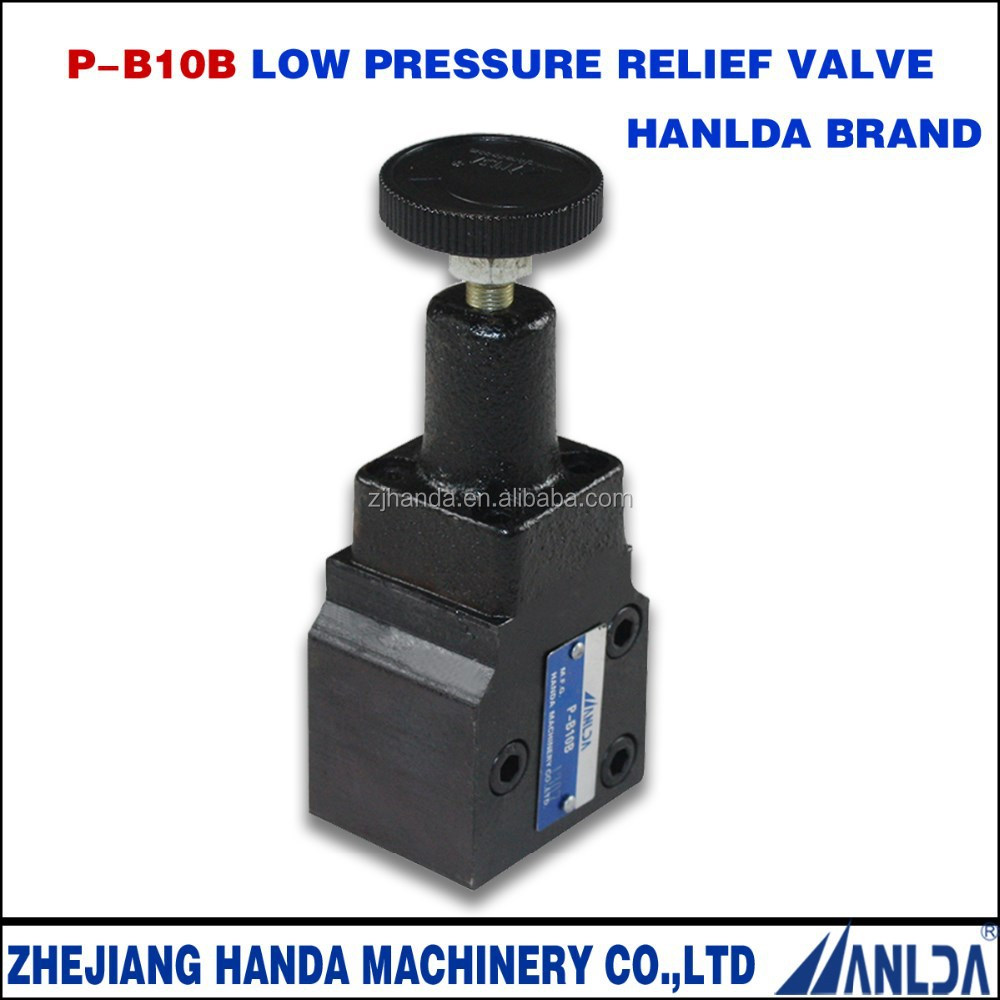 hydraulic type safety control low pressure relief valve
