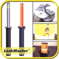 Not Automatic Retractable Bollard with base plate