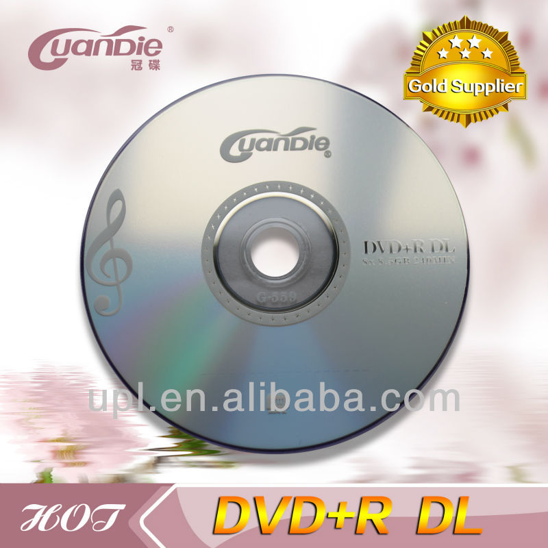 Guangdie/verbatim dvd+r dl double layer 8.5GB 8X with cake box