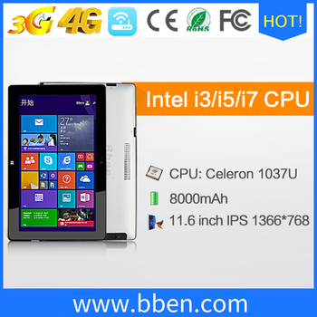 11.6 inch laptop computer pc with screen 1920*1080 notebook intel cpu tablet pc
