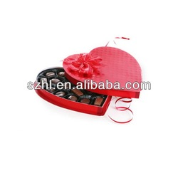 Red acrylic heart-shaped candy box for gift