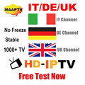 italy IPTV apk account with uk channel support android tv box , enigma2 receiver smart tv 3 month subscription 25USD free test