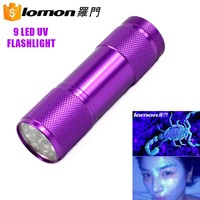 9 Led 365Nm Nichia Purple Light Small Ultra Violet Led UV Flash Light