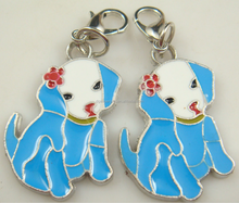 pet shop promotional gift dog pendant with lobster clasp
