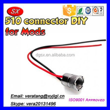 Customize DIY 510 connector,Stainless steel E-cig 510 connector for Box Mod