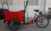 CE family Danish bakfiets electric 3 wheel industrial cargo bike with cabin box manufacturer