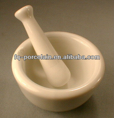 ISO 9001 Professional factory! Porcelain Mortars With Pestle for Lab analysis