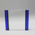 High quality gradient blue and clear crystal square plaque trophy award in blank