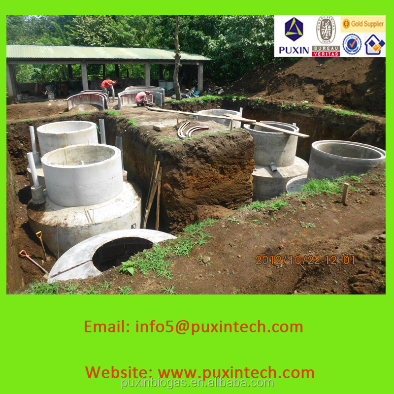 biogas plant with purification of sewage water for home