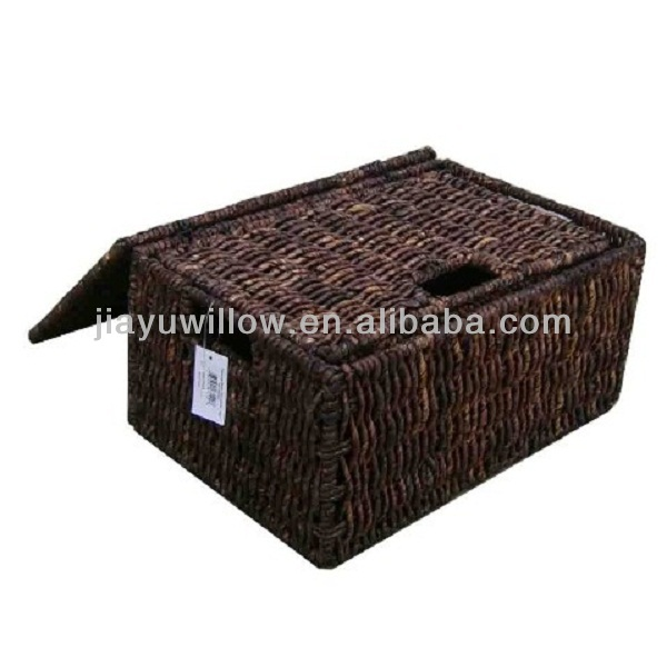 Stylish and strong Maize storage basket with sea grass and metal wire material