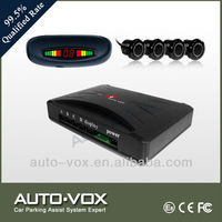 2013 good quality car rear roof led display parking sensors with 4 sensors