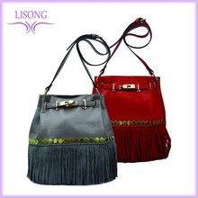 2016 New Arrival High Quality PU Messenger Bag Lady handbags Sequined Shoulder Bag With Tassel