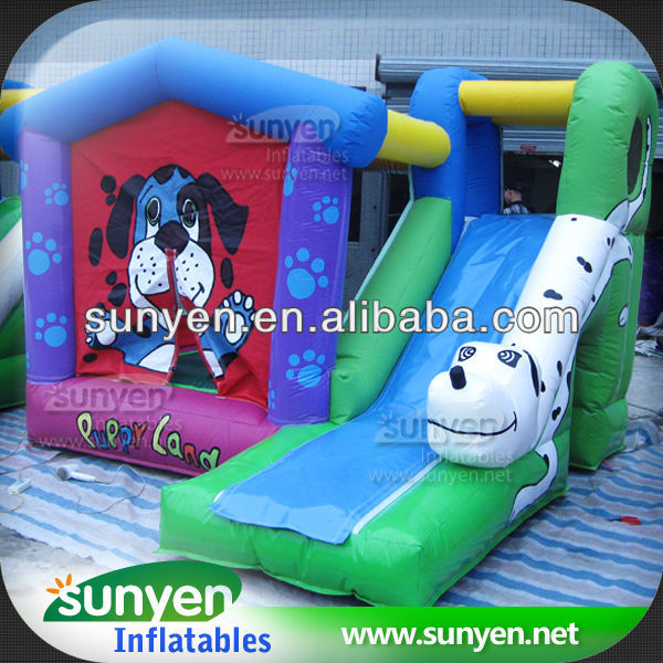 Commercial Spotty Dog Inflatable Bouncer And Slide