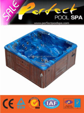 Lazy spa hot tub/barato bathtub pasamanos/outdoor piscina spa masaje jacuzzi masage atractivo seis p