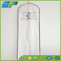 white nonwoven gown bag for Wedding dress shop