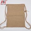 Stylish good price plain jute drawstring backpack