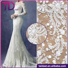 New Design Water Soluble embroidery lace fabric 3D Bridal Lace Fabric