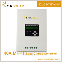 2000W 12V/24V DSP processors architecture MPPT charge controller 40A for Automatic voltage regulator solar charge controller