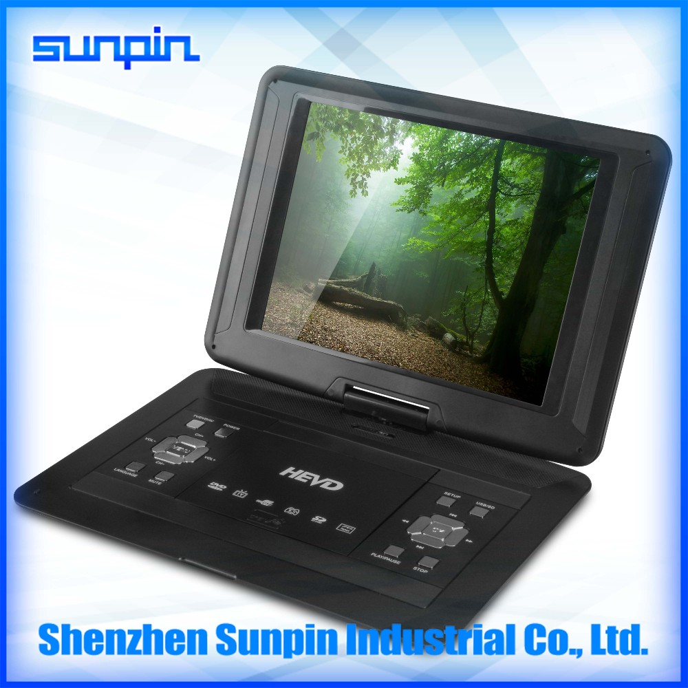 Laptop portable DVD player 13 inch with USB/SD Card Reader