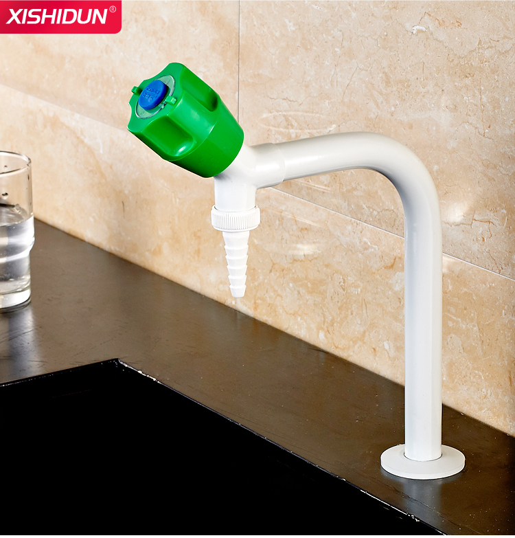 White Plastic Spray  Chemical Laboratory Cup Sink Water Faucet