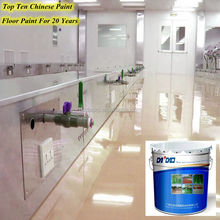 Acid resistant epoxy flooring coating self -leveling paint for factories and warehouses floors