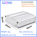 High quality antique powder coating small aluminum enclosure for electronics 20 (h) x65 (w) x65 (l) mm