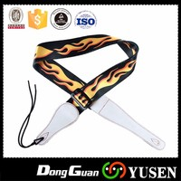 Heat transfer custom guitar strap produced in china