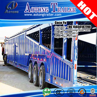 hot sale 2 / 3 axles open-type car carrier vehicle transport trailer