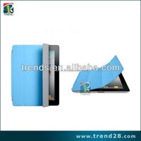 Colorful Folding PU Leather case for Ipad 2, for ipad 2 flip leather case