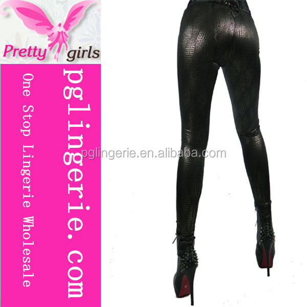 Wholesale Leggins Faux Leather Women Sexy Leather Leggings