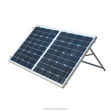 portable 100 watt folding solar panel for camping with controllers