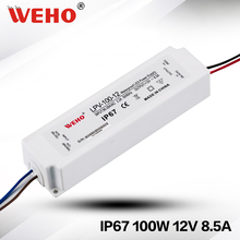 IP67 Plastic Power Supply Waterproof LED driver 100w 12v