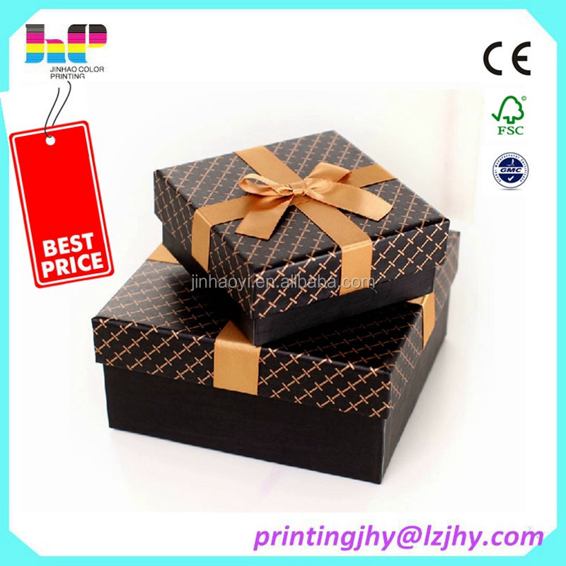 delicate high grade custom gift paper bag and box printing factory in China