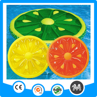 New wholesale swimming fruit slice inflatable melon float