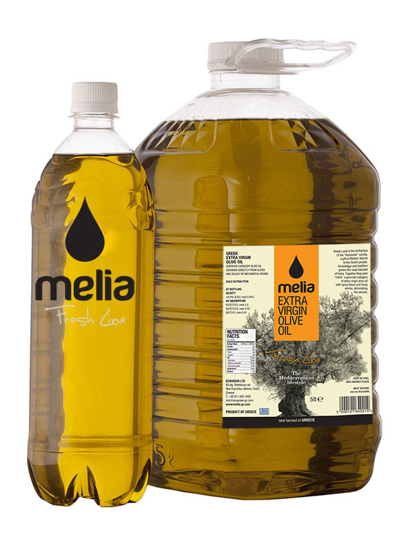 Greek Extra Virgin Olive Oil Bulk 5L Gmo Free Freshness guarantee ''Melia Fresh''