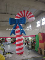 Inflatable Candy Cane Christmas Decoration/inflatable christmas cartoon