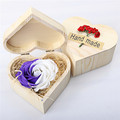 24k gold rose/soap flower wooden octagonal box/ heart-shaped box