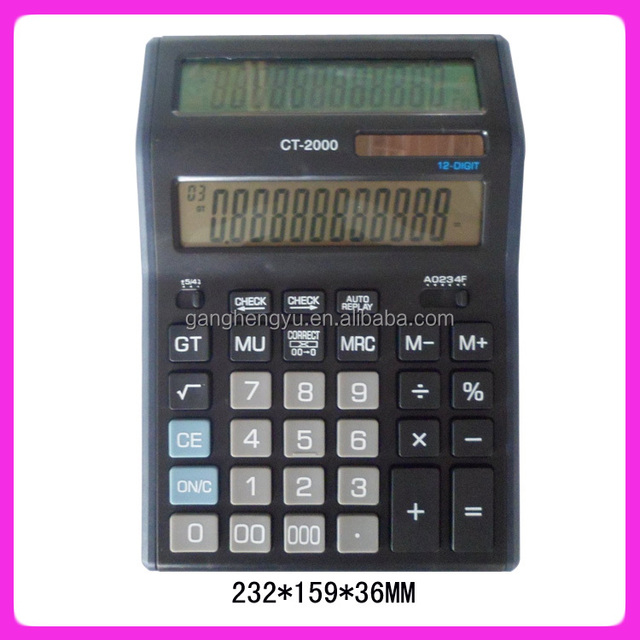 Large Double Sided Display Full Calculation Solar Calculator