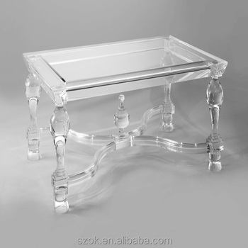 Luxury design clear acrylic crystal coffee tables for home - Table basse plexi ...