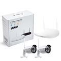 2 channel 960P Wireless Surveillance DVR kit 36 pcs IR LEDs metal housing working day & night 3.6 mm lens