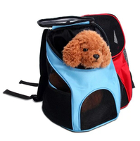 Colorful Portable Travel Dog Pet Bag Double Shoulder Breathable Mesh Backpack Outdoor Bag
