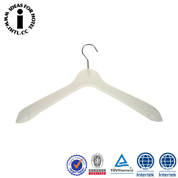 White Plastic Hotel Cloth Laundry Hanger Wholesale