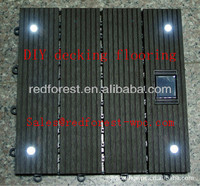 DIY decking with solar light