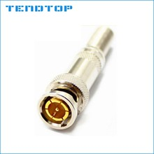 Best quality Copper Pin + gold plated spring end RG58/59/60 BNC connector with Screw