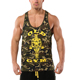 Custom bodybuilding dry fit stretch cotton tank top gym stringer muscle tank top wholesale
