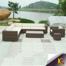 2016 new design rattan sectional sofa outdoor furniture with waterproof cushion